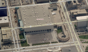 """The convention center turns its back on Kilbourn Avenue. This could change under """"Phase III."""""""