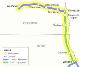 How the existing Hiawatha Service will be extended to Madison is illustrated in this image from WisDOT.