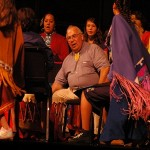 All generations take part in a traditional drum dance.