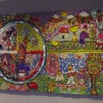 """""""Circle of Life"""" mural created by students enrolled in the SHARP Literacy program. This mural is on permanent display at the Alumni Memorial Union on the Marquette University campus. Photo courtesy of Marquette University."""