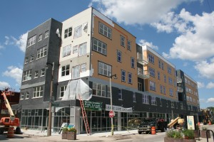 Latitude Apartments under construction on Kenilworth and Farwell.