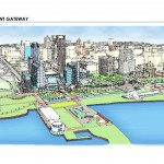 Lakefront Gateway from Downtown Plan