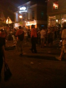 Security clears the Brady Street Festival at 11 p.m., and for what purpose?