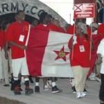 The Birmingham, Alabama athletes enter the ceremony.