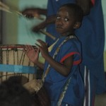 The littlest drummer with Ton Ko-Thi.