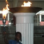 Milwaukee athlete Tayaa Williams had the honor of lighting the torch at the 2010 U.S. Youth Games. Photos by Patti Wenzel