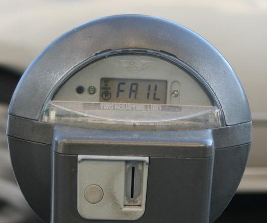 Parking meter fail.