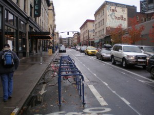 On-street Bike Parking in Portland, OR