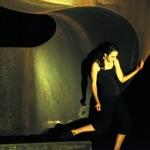 "Monica Rodero with ""Upstart."" Wild Space photo by Paul Gaudynski/"