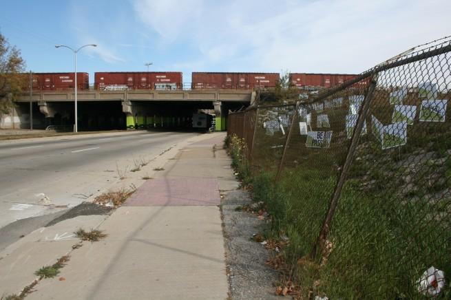 Yard Signs and Railway Underpass
