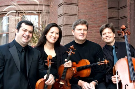 The Philomusica Quartet: Mandl, Kim, Hackett, Zitoun.