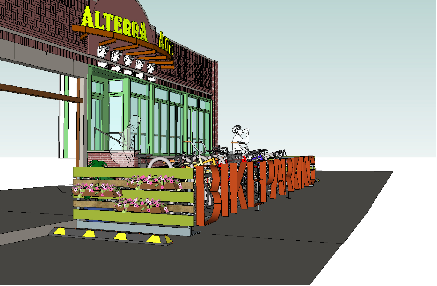 Alterra to Introduce On-Street Bike Parking to Milwaukee (Renderings)
