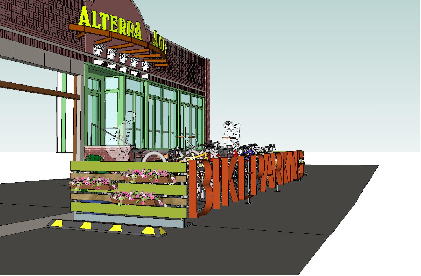 Alterra to Introduce On-Street Bike Parking to Milwaukee (Renderings)