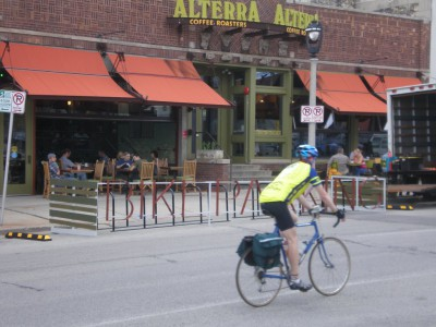 Alterra Opens Milwaukee's First On-Street Bike Corral