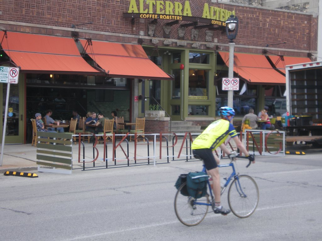 Alterra's On-Street Bicycle Corral