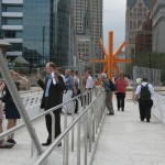 Tour Group on Calatrava Pedestrian Bridge