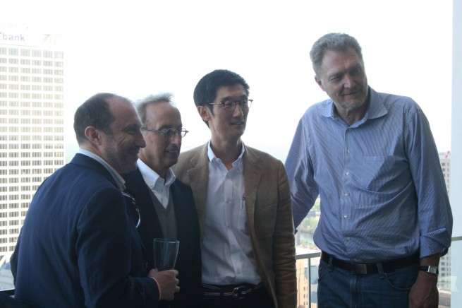 Boris Gokhman, Barry Mandel, Peter Park, and John Norquist at the University Club Tower