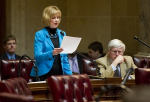 Alberta Darling on the Senate floor