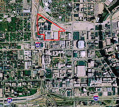 project location, adjacent to downtown (courtesy of The Brewery)