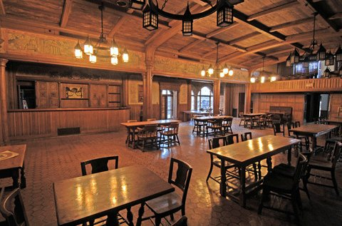 restored beer hall (courtesy of The Brewery)