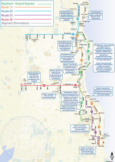 MCTS services changes as a result of proposed Bayshore - Airport Express