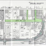 Map of proposed Avenue Commons street closures