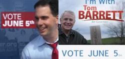 Scott Walker and Tom Barrett Encourage You to Vote