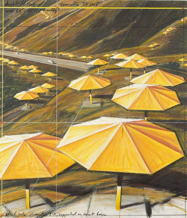 Christo and Jeanne-Claude - Umbrellas