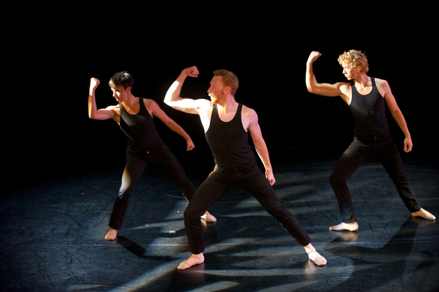 """Love in a Time of War"": Malehorn, Sharratt, Brasser-Vos. Photo courtesy of Danceworks by Mark Frohna."