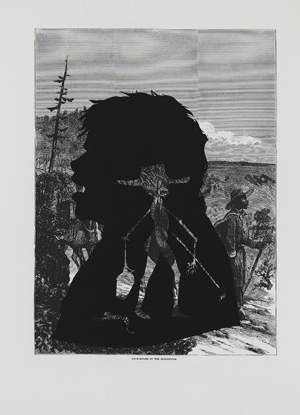 Kara Walker, Pack-Mules in the Mountains, 2005.