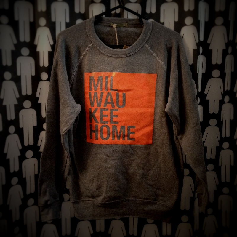 Milwaukee Home Orange on Grey Sweatshirt