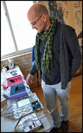 Steve Vande Zande Explains a New Project. Photo by Grace Fuhr.