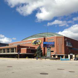 UW Milwakee Panther Arena, 400 W. Kilbourn Ave, Milwaukee, WI. Photo by Mariiana Tzotcheva