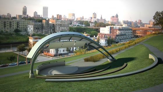 Rendering of the new Selig-Joseph-Folz Amphitheater in Kadish Park. Photo provided by HSA Architects and Engineers.