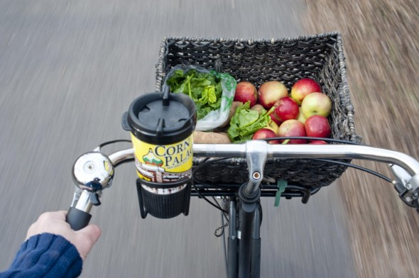 The smooth new asphalt on the ride home ensures no bruised produce. You and your apples are on your own once you hit city streets though.