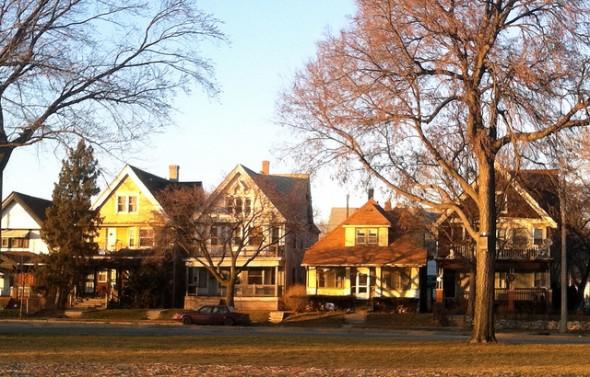 Lloyd Street, across from Washington Park (Photo by Andrea Waxman)
