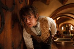 "MARTIN FREEMAN as the Hobbit Bilbo Baggins in the fantasy adventure ""THE HOBBIT: AN UNEXPECTED JOURNEY,"" a production of New Line Cinema and Metro-Goldwyn-Mayer Pictures (MGM), released by Warner Bros. Pictures and MGM.  Photo by Mark Pokorny"