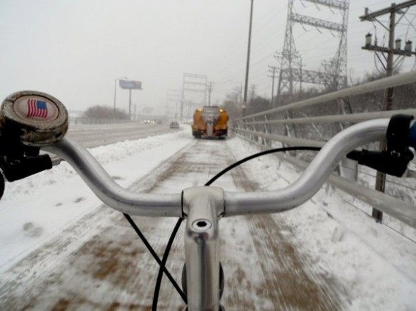 Getting it right: I remember the one time I pedaled home behind a City of Milwaukee DPW truck clearing the snow on the Hank Aaron State Trail.