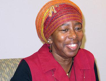 Jojopah Maria Nsoroma, Wisdom Walk creator and facilitator (Photo by Andrea Waxman)