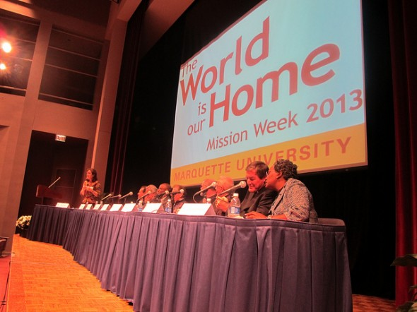 A panel discussion on health disparities was part of Mission Week at Marquette University. (Photo by Edgar Mendez)