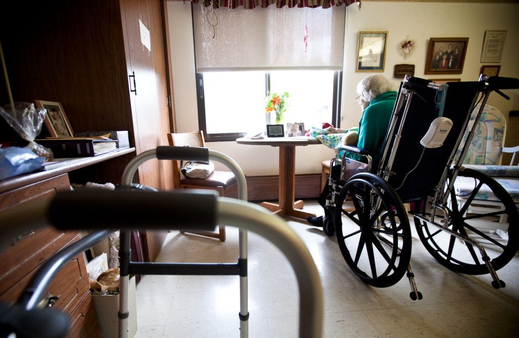 Nursing home. Photo by Lukas Keapproth/Wisconsin Center for Investigative Journalism.
