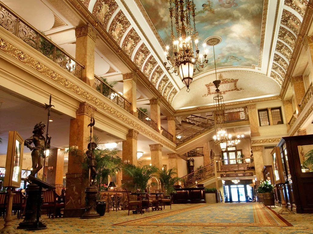 Pfister Hotel lobby. Photo via Pfister Facebook page.