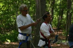 Ropes & Challenges. Al Cimperman (on the left) and colleague.