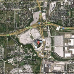 Freeway could run through Miller Park parking lots.