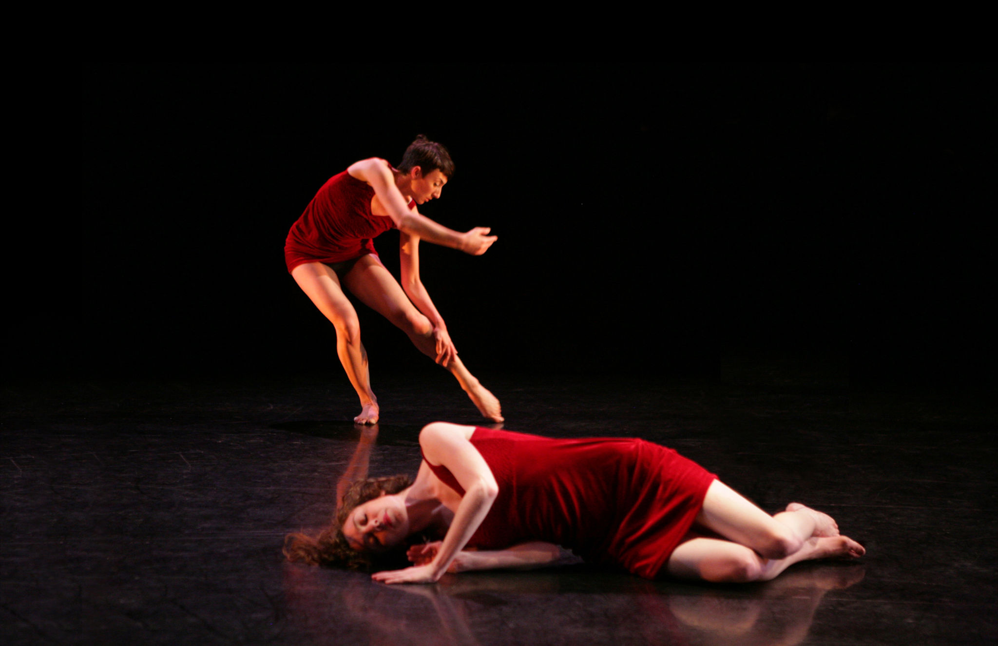 The odalisque (Molly Mingey) and her dream (Mauriah Kraker). Photo courtesy of Wild Space Dance Company.