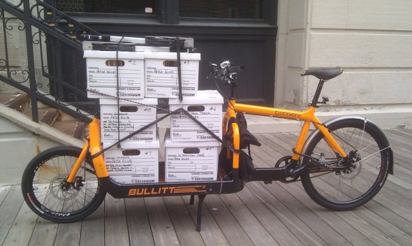 """Delivering a """"six pack"""" Breakaway style. Photo by Breakaway"""