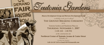 Teutonia Gardens groundbreaking invitation.