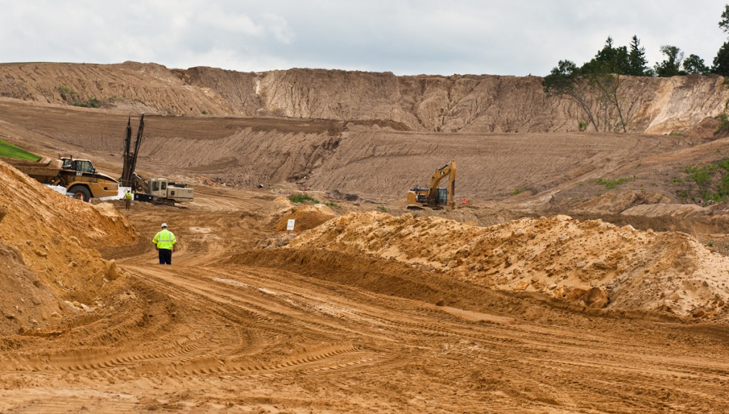 A sand mine in Blair, WI. Photo by Lukas Keapproth/Wisconsin Center for Investigative Journalism.