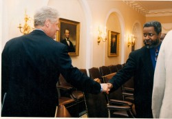 Gregory Stanford meeting with President Bill Clinton.