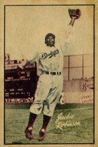 1952 Berk Ross Jackie Robinson card.